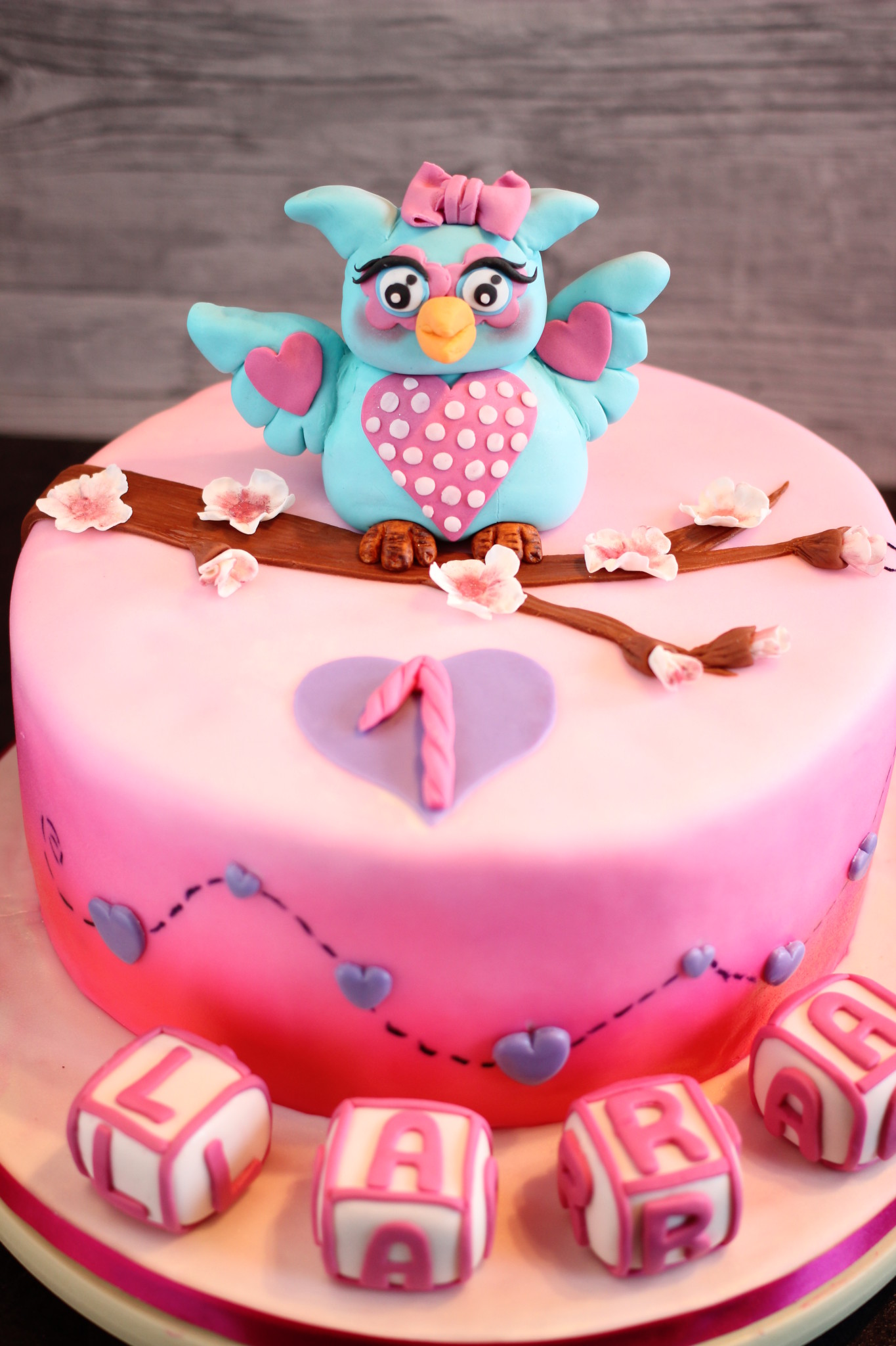 Owl Birthday Cakes And Cupcakes