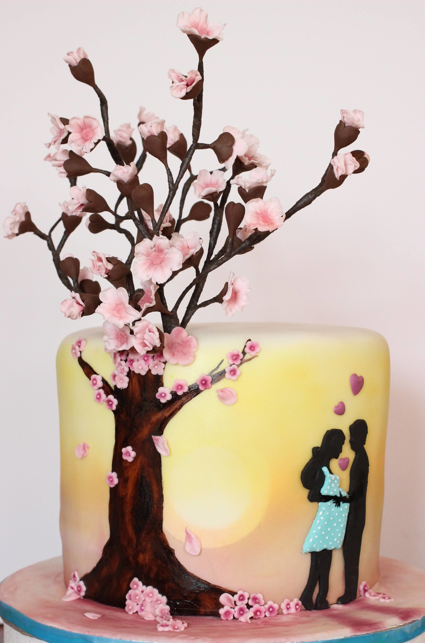 silhouette cake babyparty mal anders sarahs cakes. Black Bedroom Furniture Sets. Home Design Ideas